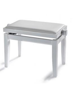 mod. Aida - Panca per pianoforte regolabile - bianco lucido